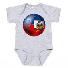 Haiti Soccer Ball Baby Bodysuit