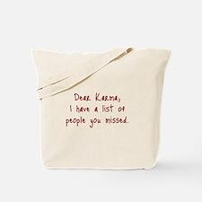 Karma List Tote Bag