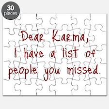 Karma List Puzzle