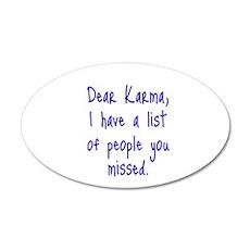 Karma List Wall Decal