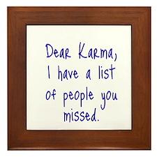Karma List Framed Tile