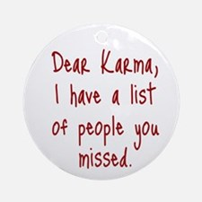 Karma List Ornament (Round)