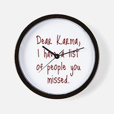 Karma List Wall Clock