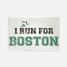 I RUN FOR BOSTON Rectangle Magnet