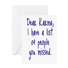Karma List Greeting Card