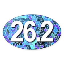 Super Unique 26.2 BLUE Decal