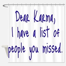 Karma List Shower Curtain