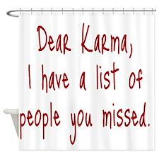 Karma List Shower Curtain