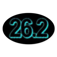 Super Unique 26.2 POP ART teal color Decal