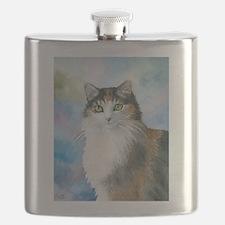 Cat 572 Calico Flask
