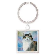 Cat 572 Calico Keychains