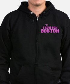 I RUN FOR BOSTON Zip Hoodie