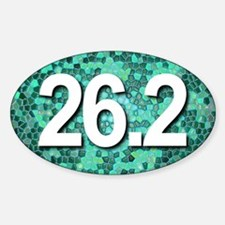 Super Unique 26.2 teal color version Decal