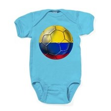 Colombia Soccer Ball Baby Bodysuit