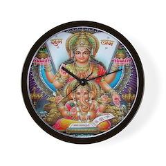 Ganesh and Krishna Wall Clock