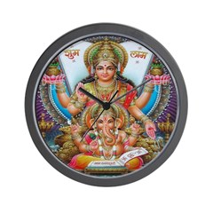 Ganesh and Krishna Wall Clock