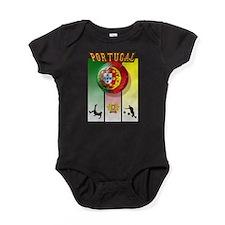 Portugal Football Soccer Baby Bodysuit