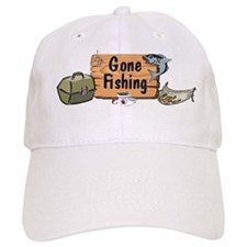 Gone Fishing Design Baseball Cap