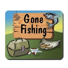 Gone Fishing Design Mousepad