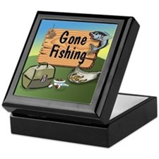 Gone Fishing Design Keepsake Box