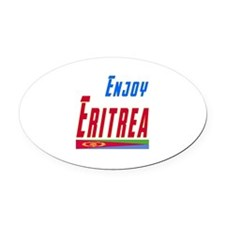 Eritrea Designs Oval Car Magnet