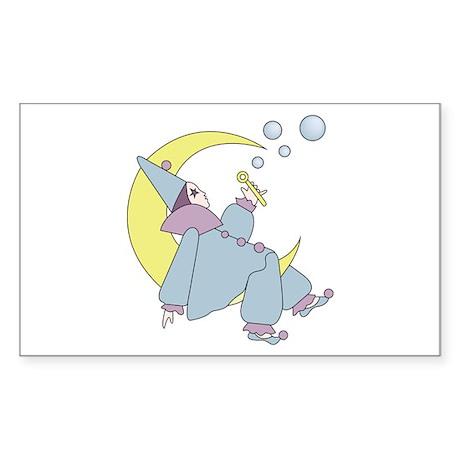 Clown On The Moon Sticker