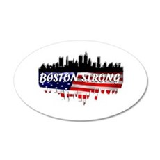 Boston Strong 20x12 Oval Wall Decal