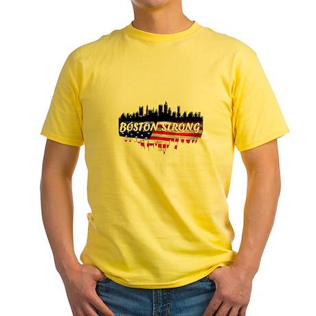 Boston Strong Marathon Yellow T-Shirt
