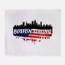 Boston Strong Marathon Throw Blanket
