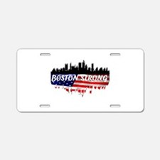 Boston Strong Marathon Aluminum License Plate