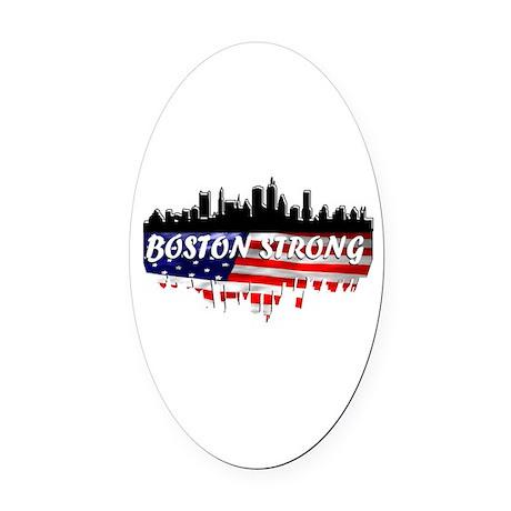 Boston Strong Marathon Oval Car Magnet