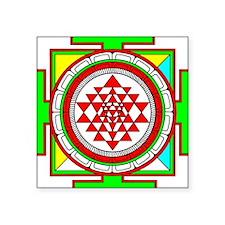 Sri Yantra (shree Yantra) deigned Square Sticker 3