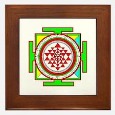 Sri Yantra (shree Yantra) deigned Framed Tile