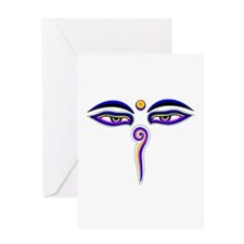 Peace Eyes (Buddha Wisdom Eyes) Greeting Card