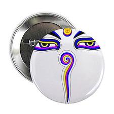 """Peace Eyes (Buddha Wisdom Eyes) 2.25"""" Button"""
