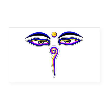 Peace Eyes (Buddha Wisdom Eyes) Rectangle Car Magn