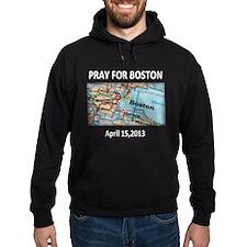 Pray For Boston Map Hoodie