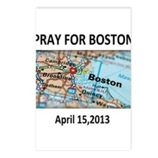 Pray For Boston Map Postcards (Package of 8)