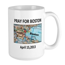 Pray For Boston Map Mug