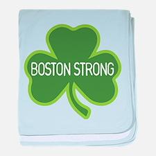 Boston Strong Shamrock baby blanket