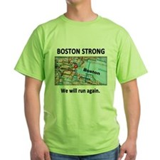 Boston Strong Map T-Shirt