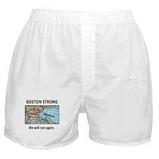 Boston Strong Map Boxer Shorts