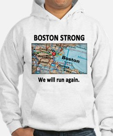 Boston Strong Map Hoodie