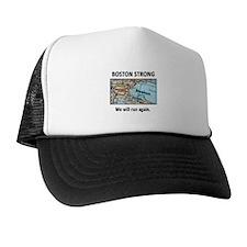 Boston Strong Map Trucker Hat