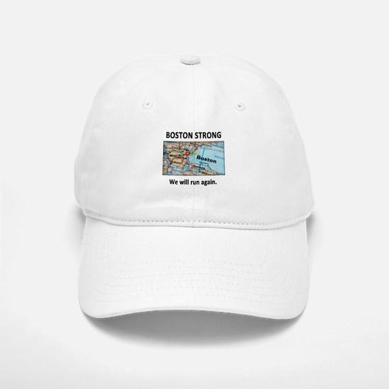 Boston Strong Map Baseball Baseball Cap