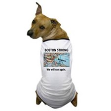 Boston Strong Map Dog T-Shirt
