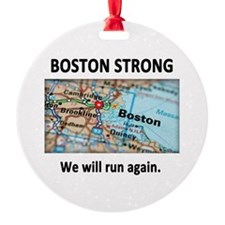 Boston Strong Map Ornament