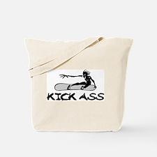 Kick Ass Snowboarding Tote Bag