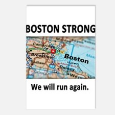Boston Strong Map Postcards (Package of 8)