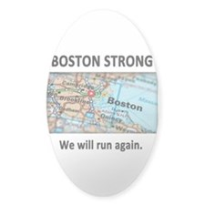 Boston Strong Map Decal